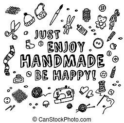 czarnoskóry, biały, handmade, karta, szczęśliwy