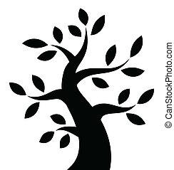 czarnoskóry, drzewo, śmiały, ikona
