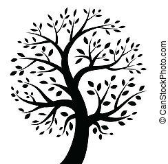 czarnoskóry, drzewo, ikona