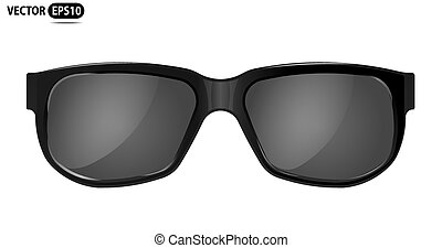 czarnoskóry, ilustracja, -, wektor, sunglasses