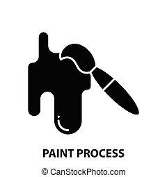 czarnoskóry, ilustracja, znak, editable, uderzenia, malować, ikona, proces, wektor, pojęcie