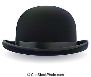 czarnoskóry, kapelusz melonika