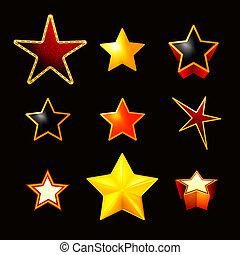 czarnoskóry, komplet, eps10, gwiazdy