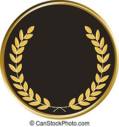 czarnoskóry, wektor, medal
