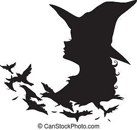 czarownica, sylwetka