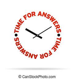 czas, odpowiedzi, zegar