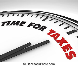 czas, -, podatki, zegar