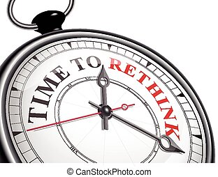 czas, rethink, pojęcie, zegar
