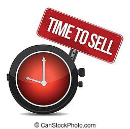 czas, sprzedawać, ilustracja, pojęcie