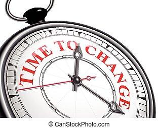 czas, zmiana, zegar, pojęcie