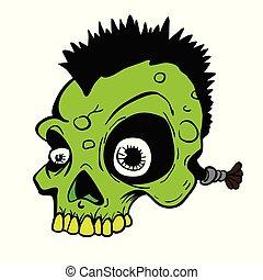 czaszka, punk