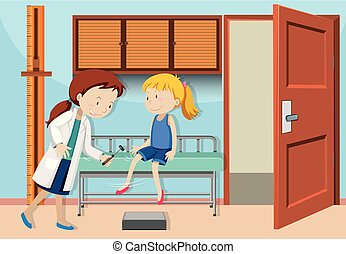 czek, dziewczyna, do góry, doktor