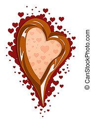 czekolada, ilustracja, wektor