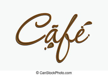 czekolada, kawiarnia, tekst