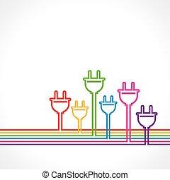czop, barwny, elektryczny, tło