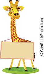 czysty, żyrafa, rysunek, znak