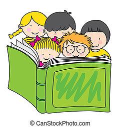 czytanie, dzieci, książka