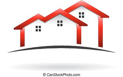 dach, logo, domy