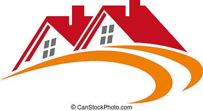 dachy, dom, elementy