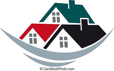 dachy, dom, symbol