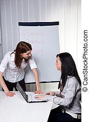 dając korepetycje, młody, handlowe kobiety