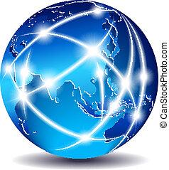 daleki, komunikacja, wschód, -, świat