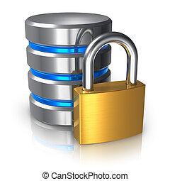 dane bezpieczeństwo, pojęcie, komputer, database