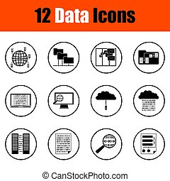 dane, ikony, komplet
