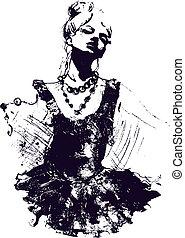 danser dziewczyny, ilustracja