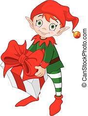 dar, elf, boże narodzenie