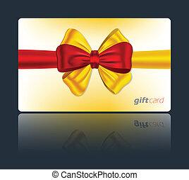 dar karta, barwny, łuk