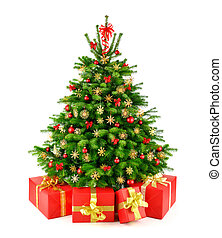 dary, drzewo, kasownik, boże narodzenie, wiejski