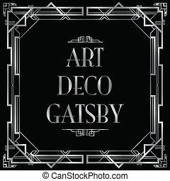 deco, sztuka, gatsby, tło