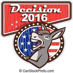 decyzja, 2016, demokrata, osioł