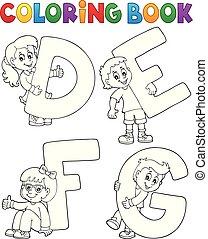 defg, kolorowanie, beletrystyka, książka, dzieci