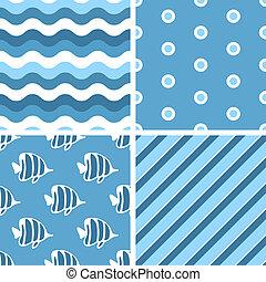 dekarstwo, wektor, patterns., seamless