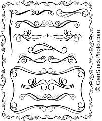 dekoracyjne brzegi, komplet, 3