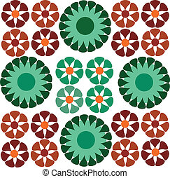 dekoracyjny, kwiat, seamless, tapeta, ornamentacja