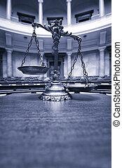 dekoracyjny, pokój sędziów, sprawiedliwość, skalpy