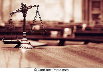 dekoracyjny, skalpy, sprawiedliwość, pokój sędziów