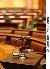 dekoracyjny, sprawiedliwość, pokój sędziów, skalpy