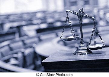 dekoracyjny, sprawiedliwość, skalpy, pokój sędziów