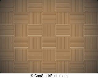 dekoracyjny, tkactwo, drewniany, abstrakcyjny, pattern., seamless, tło., vector., textured, kosz, pasiasty