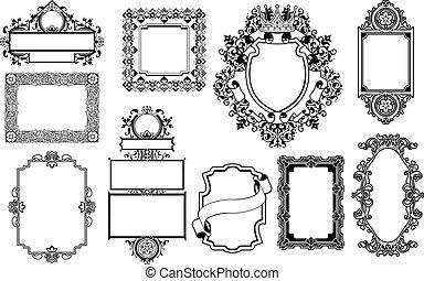 dekoracyjny, układa, graficzny zamiar