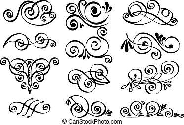 dekoracyjny, wektor, zaprojektujcie elementy