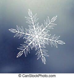 dekoracyjny, zima, snowflakes., próbka, temat, tło, boże narodzenie