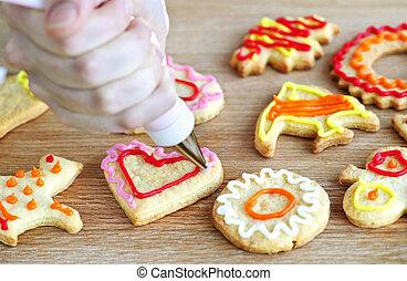 dekorowanie, ciasteczka