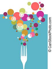 design., restauracyjny jadłospis, nożownictwo