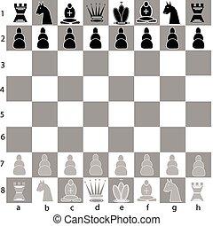 deska, szachy