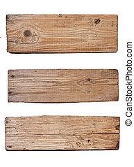 deska, tło, drewniany, odizolowany, stary, biały